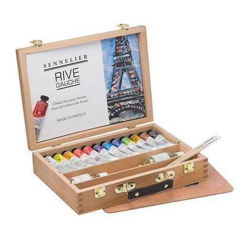 Coffret bois rive gauche - peinture à l'huile fine - SENNELIER