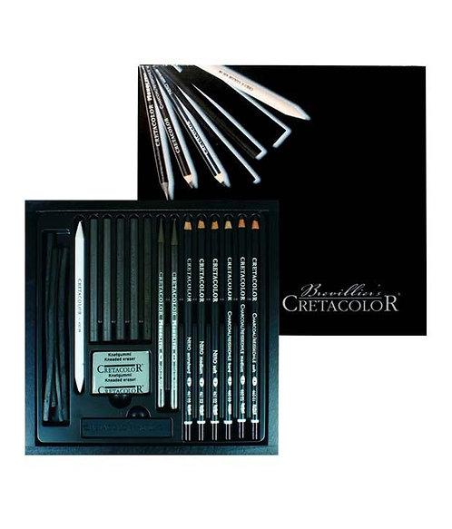 Set de dessin - CRETACOLOR - 20 pièces - édition Noire