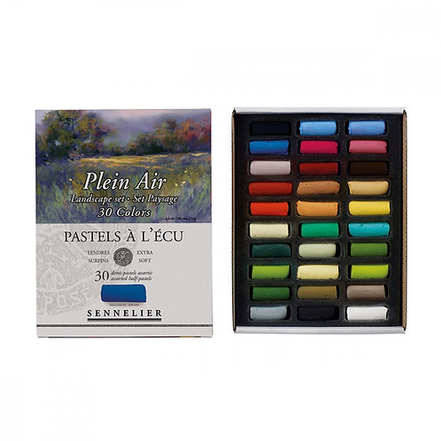Pastels à l'écu - SENNELIER - 30 demi pastels à l'écu - Set Paysage