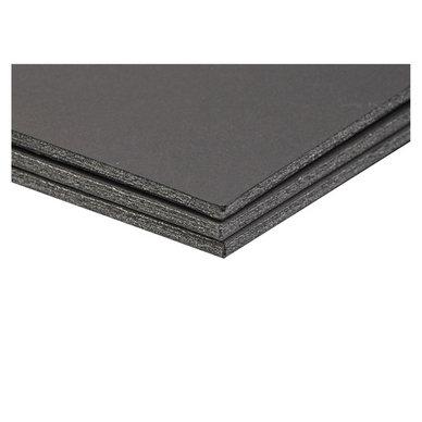Carton plume/mousse - 5mm - noir - de A4 à A1 - à l'unité