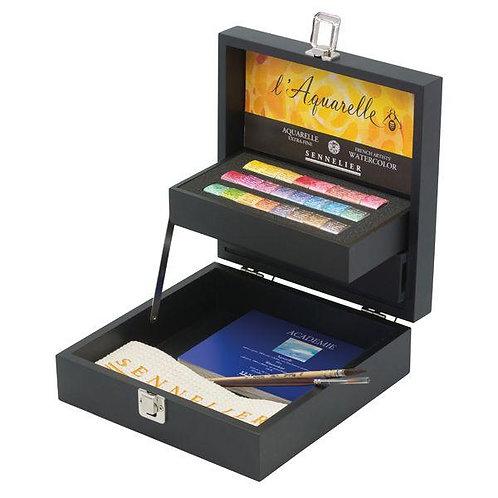Boîte d'aquarelle - SENNELIER - 24 demi godets