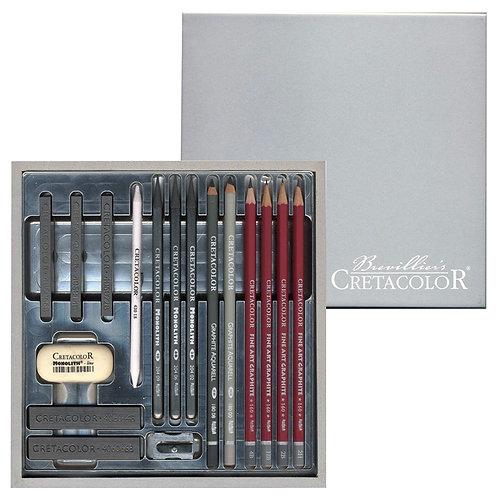 Set de dessin - CRETACOLOR - 17 pièces - Silver Box
