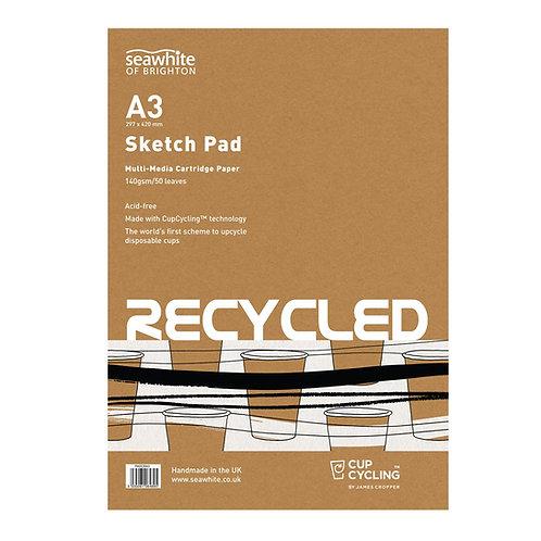 Bloc de papier recyclé - 140g - 50 feuilles