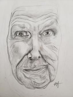 Vincent Price Portrait in Pencil