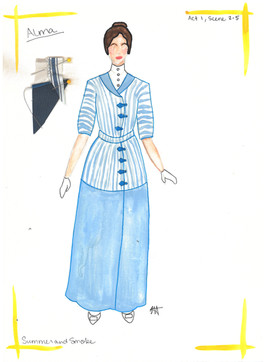 Alma Rendering Day Dress