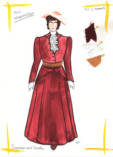 Mrs. Winemiller Pirate Dress Rendering