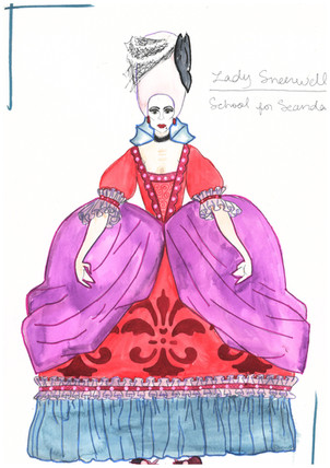 Lady Sneerwell Rendering Theoretical