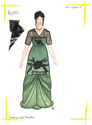 Rosa's Green Dress Rend