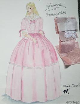 Johanna's Pink Dress Rendering