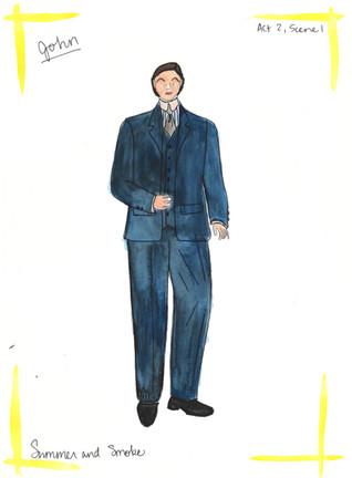 John Blue Suit Rendering