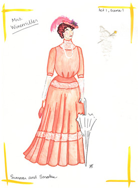 Mrs. Winemiller's Peach Dress Rendering
