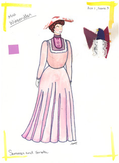Mrs. Winemiller Rendering Purple Dress