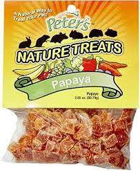 Marshall Pet Nature Treats Papaya pieces 2.85 oz
