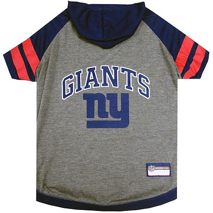 NY Giants NFL Dog T-shirt/Hoody