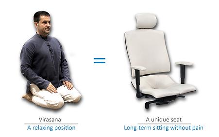 Relaxing position Virasana