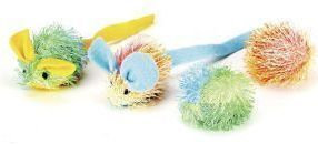 Ethical Cat - Stringy Mice with Ball - 4 Pack