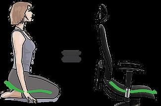 Stolicka Asana, ergonomicka stolicka, virasana