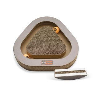 K&H Pet Products - Kitty Tippy Triangle Cardboard Toy - Brown - 14.5X14