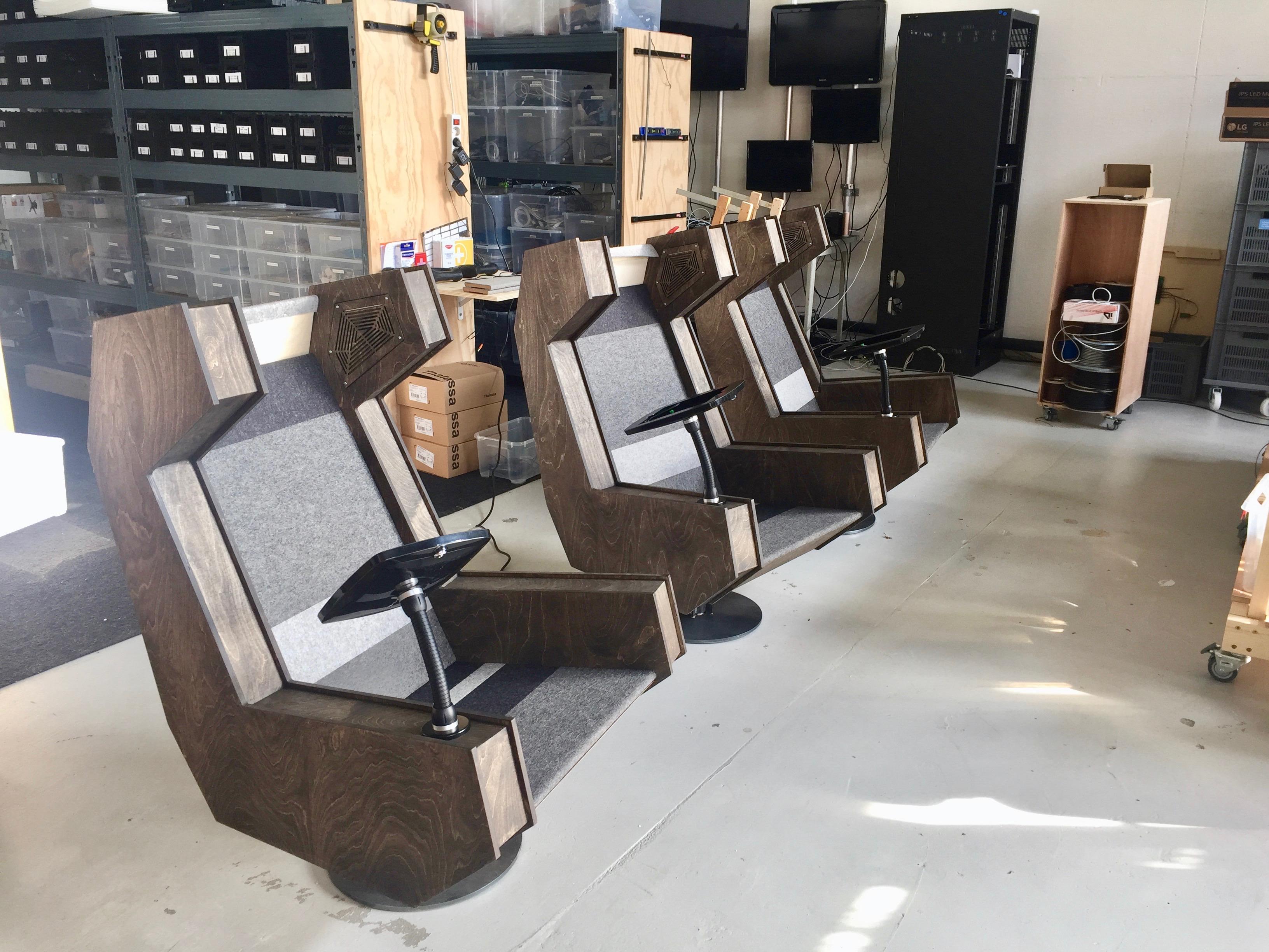 De belevingsstoelen zijn bijna af!