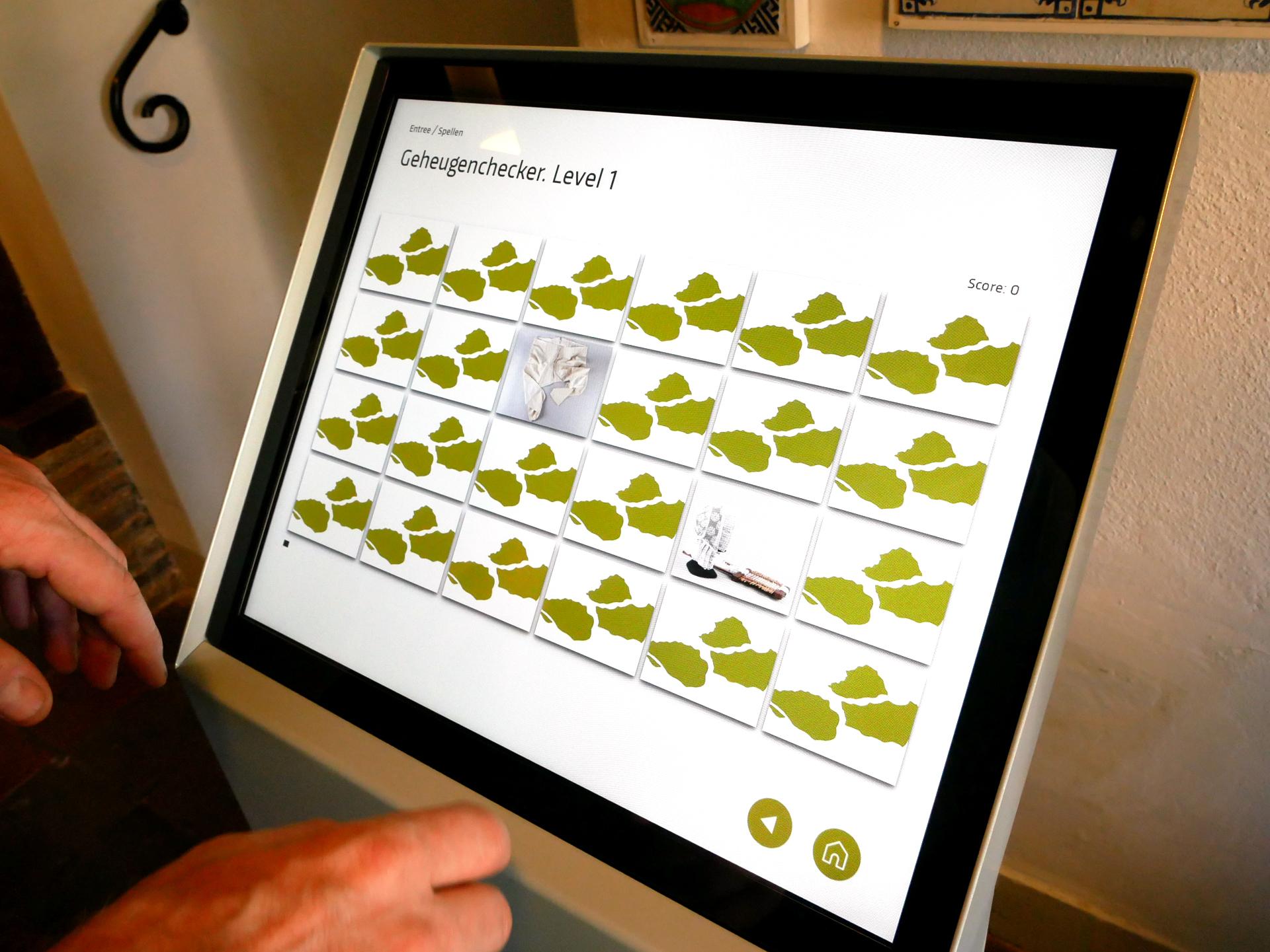 Leerspellen op een touchscreen