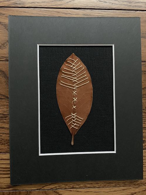 Stitched Magnolia Leaf