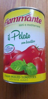 Italian peeled plum tomatoes with basil