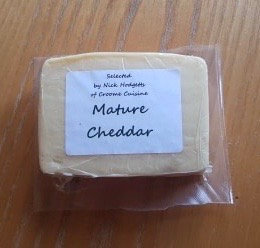 Mature cheddar from Croome Cuisine