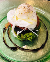 Poached duck egg starter