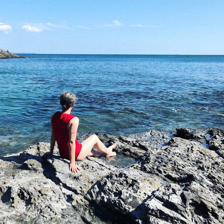 Swimming at Prussia Cove
