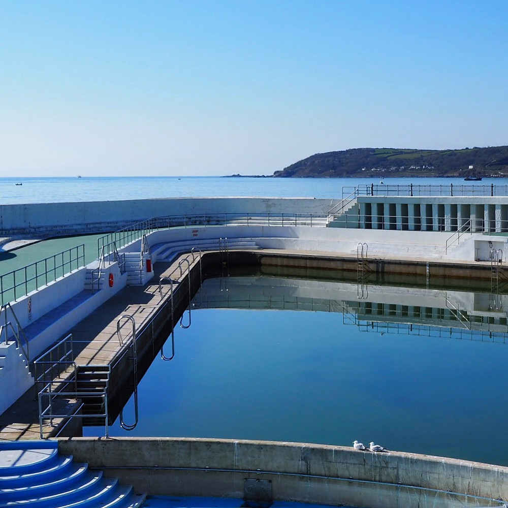 The Art Deco Jubilee Pool - the largest saltwater lido in the UK