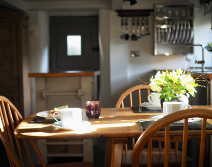 Dining area with vintage Ercol dining suite