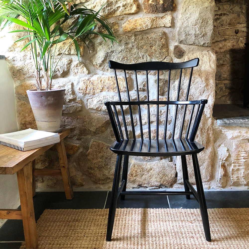 Borge Mogensen Windsor chair in Cornish holiday cottage