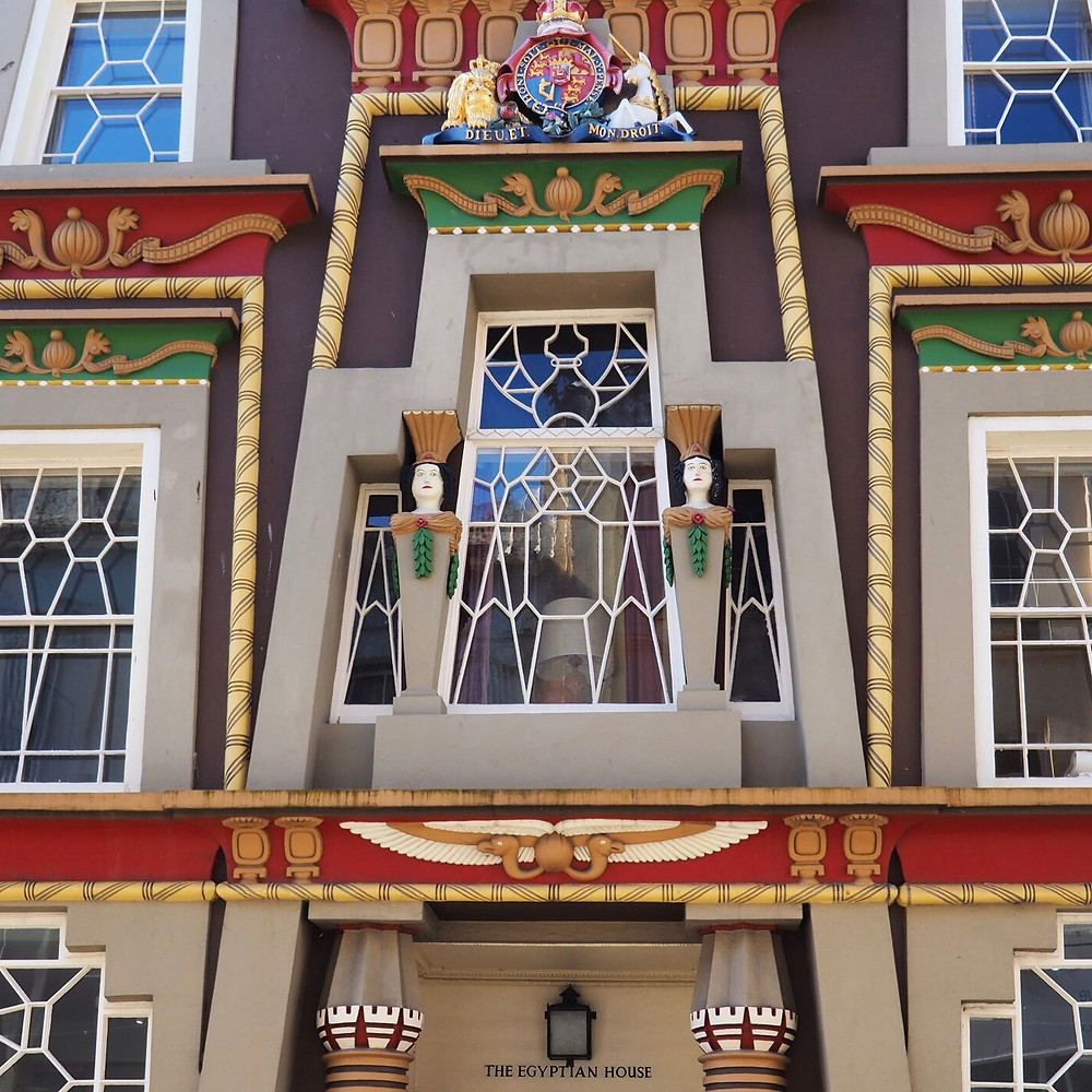 The Egyptian House - one of the most striking buildings in historic Chapel Street in Penzance