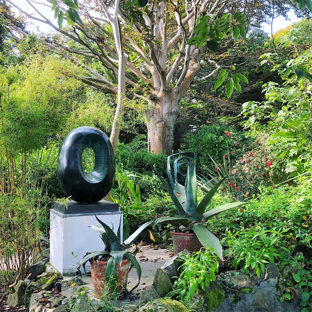 Barbara Hepworth, sculpture, sculpture garden, Barbara Hepworth Museum, St Ives, Cornwall, Tate St Ives, bronze, British artist, Cornish garden
