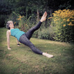 Pilates on the lawn