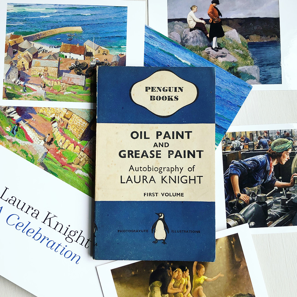 A Laura Knight exhibition catalogue and postcards