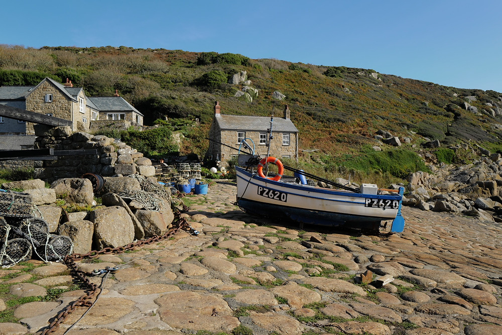 A fishing boat on a slipway