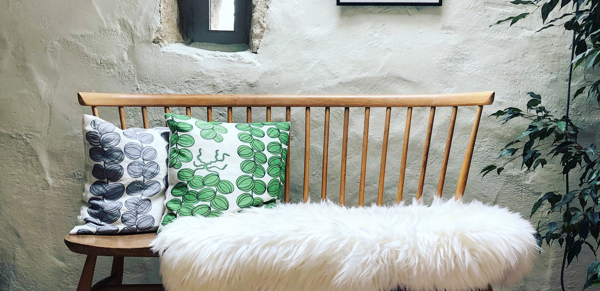 Vintage Ercol Love Seat in living area