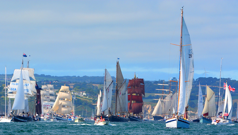 Tall ships race in Falmouth