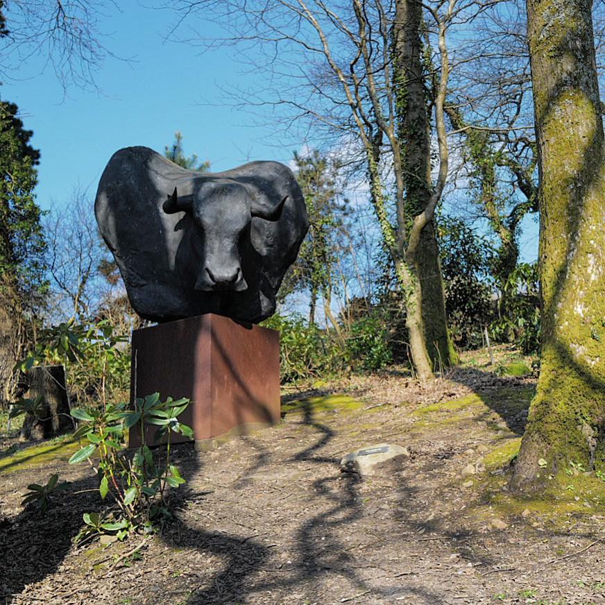 A sculpture of a minotaur by Tim Shaw