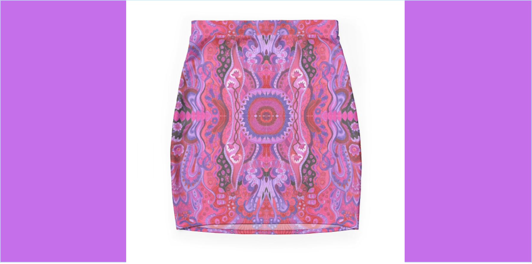 Mini Skirt Mini Skirt abstract cyclamen