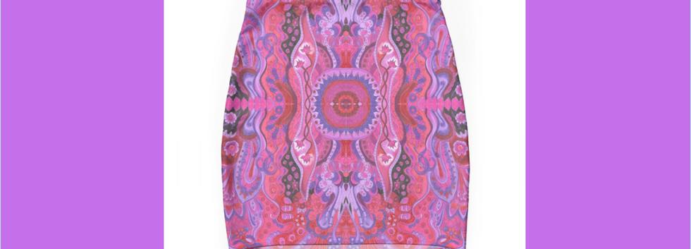 Mini Skirt Mini Skirt abstract cyclamen