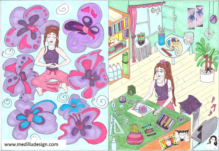 Medilludesign Art & positivevibes for retreatcenters, yogacenters