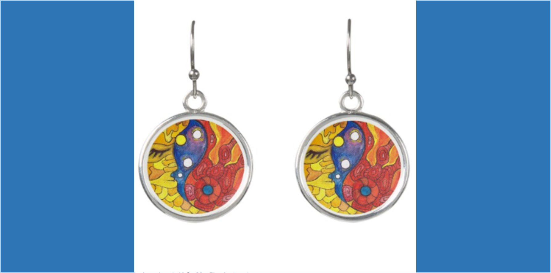 Medilludesign Moon Sun Earrings
