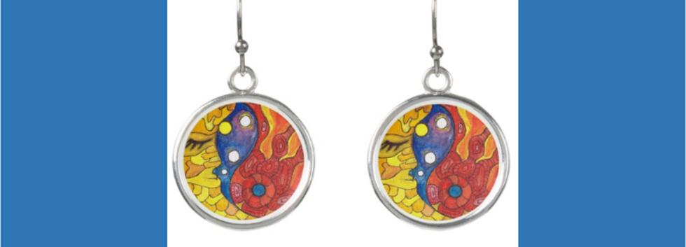 Medilludesign Moon Sun Earrings