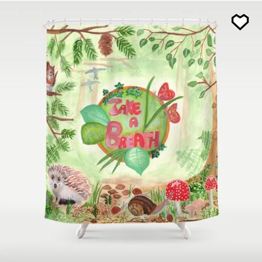 Nature Green Forest Wild Animals Shower Curtain