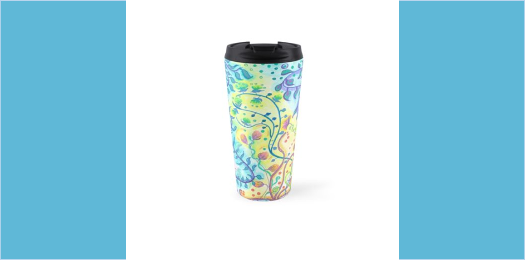 Travel mug Floral abstract