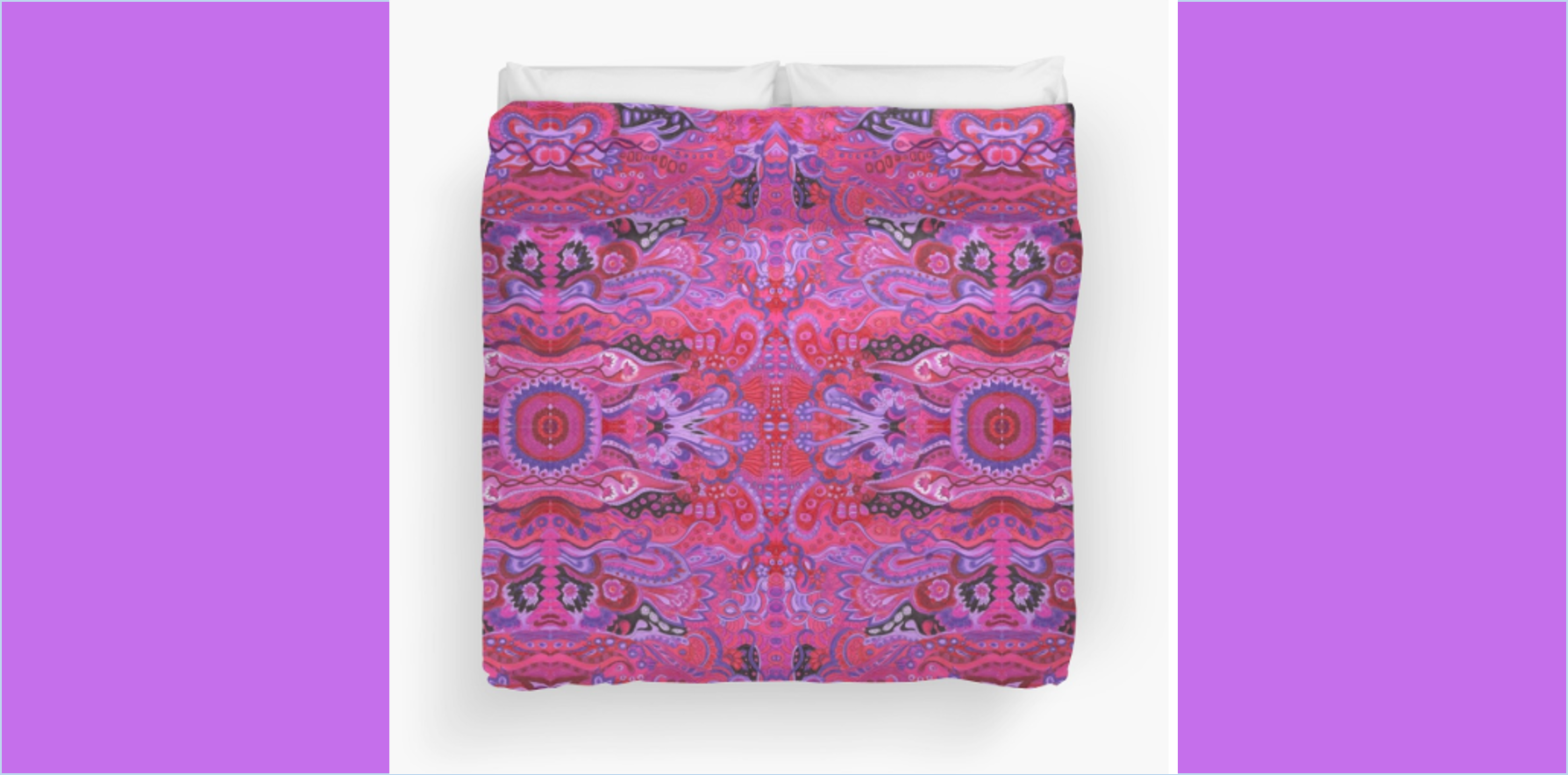 Duvet Cover Inner garden abstract cyclamen