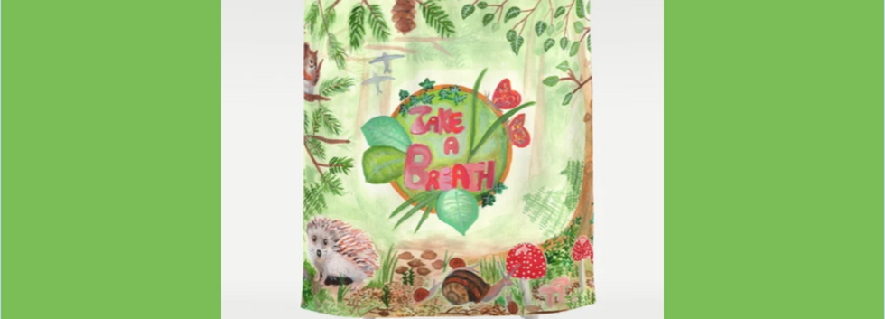 Medilludesign Ecotherapy forest Shower Curtain