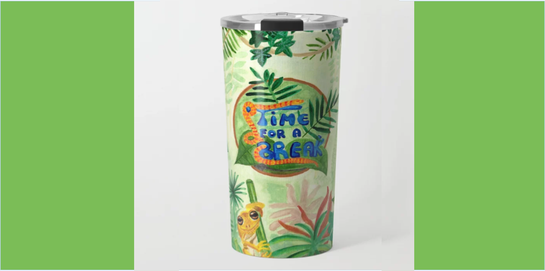 Medilludesign Ecotherapy Jungle Travel Mug